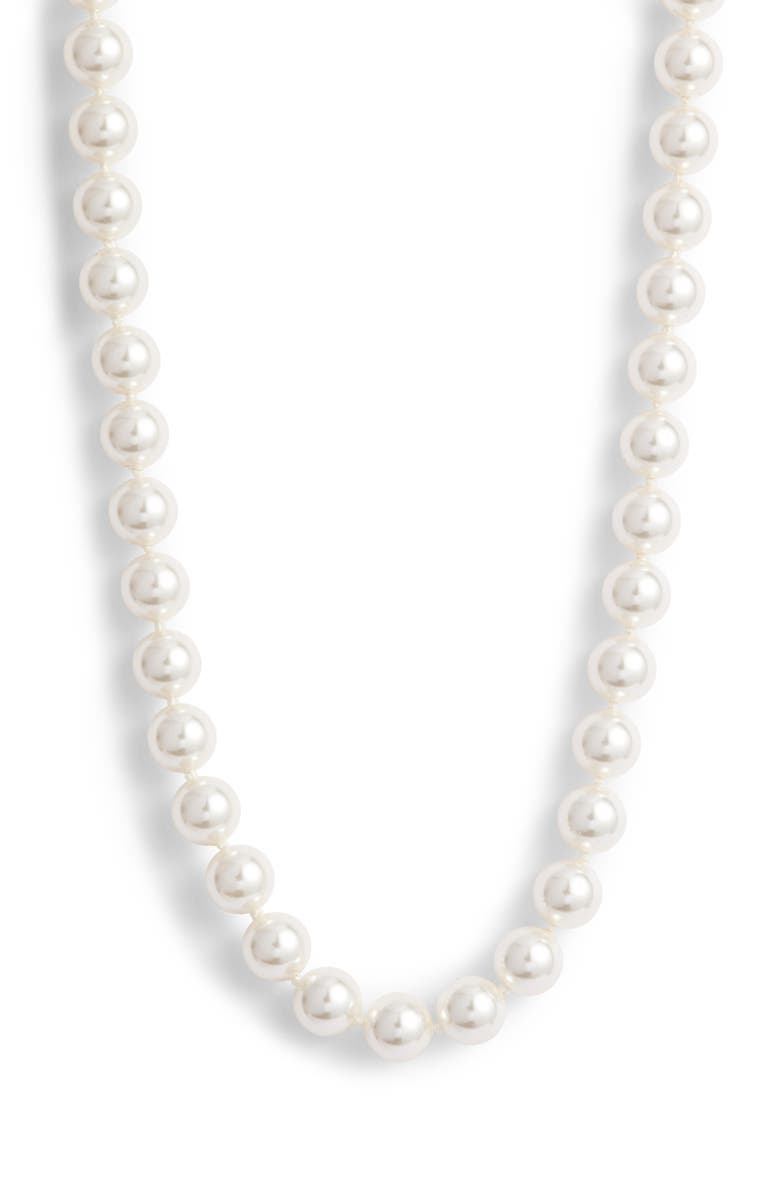 NADRI Simulated Pearl Necklace, Main, color, 140