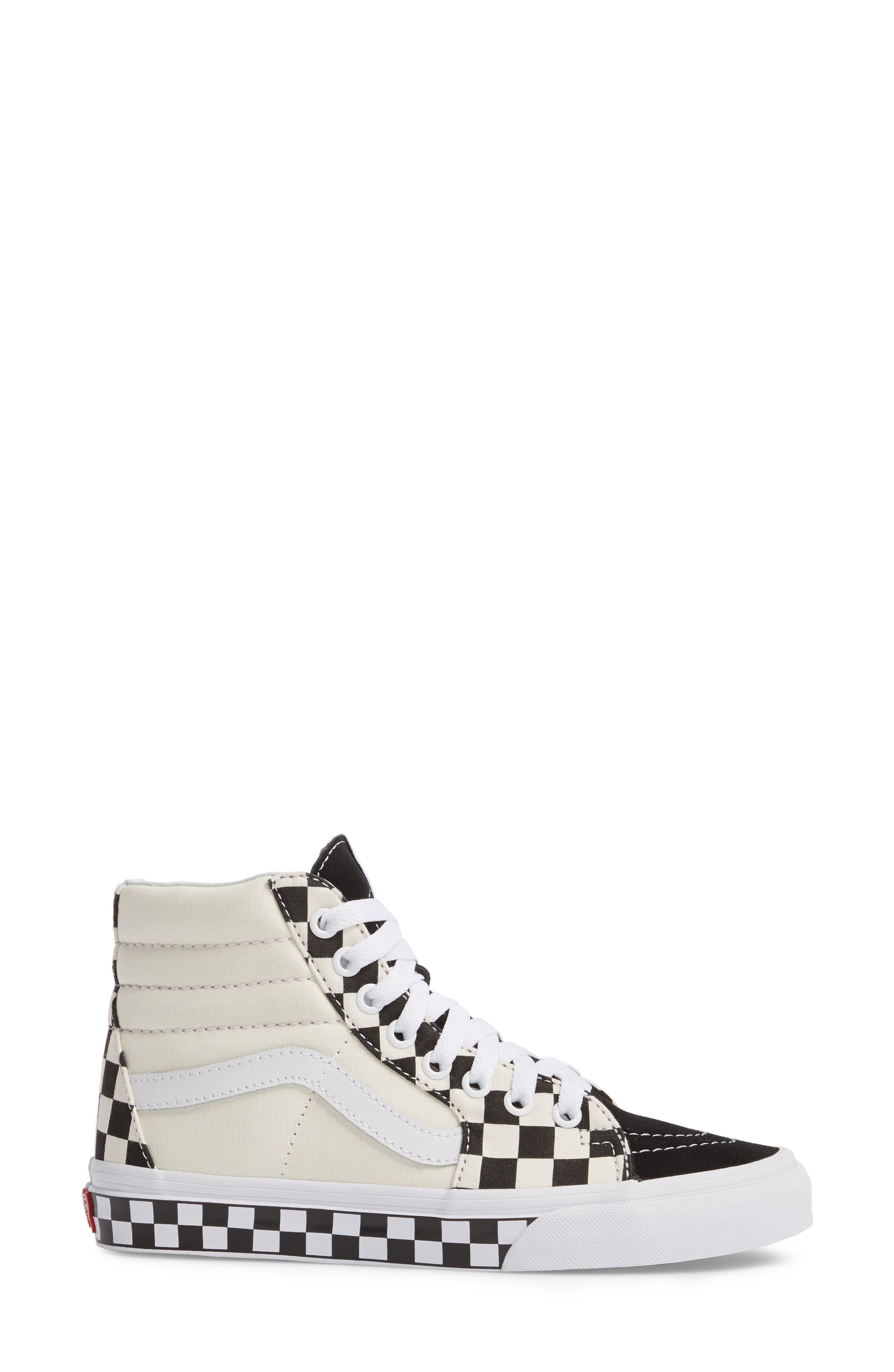 ,                             Sk8-Hi Checker Sneaker,                             Alternate thumbnail 19, color,                             100