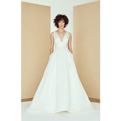 Nouvelle Amsale Hart Satin Ballgown Wedding Dress, Size IN STORE ONLY - Ivory