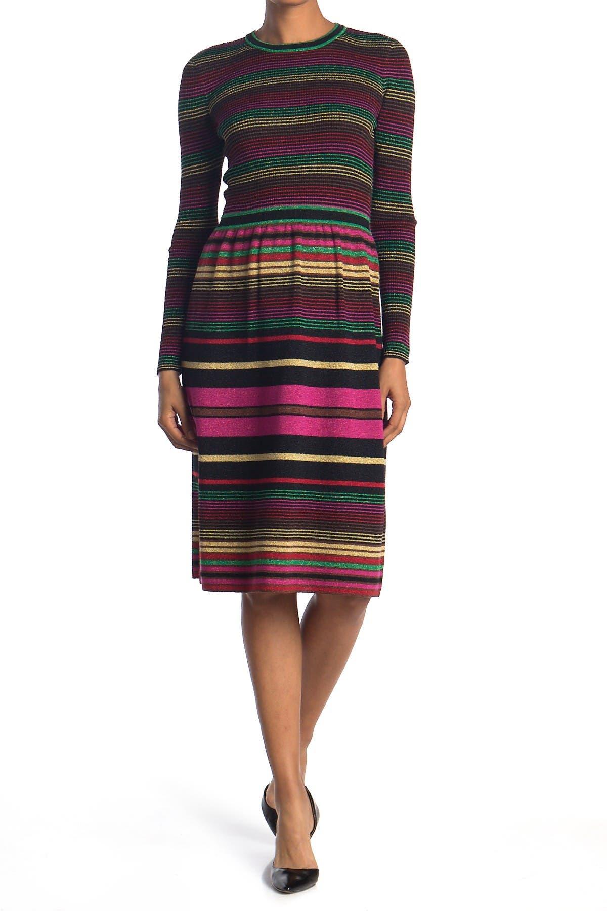 Image of Trina Turk Ikigai Stripe Sweater Dress