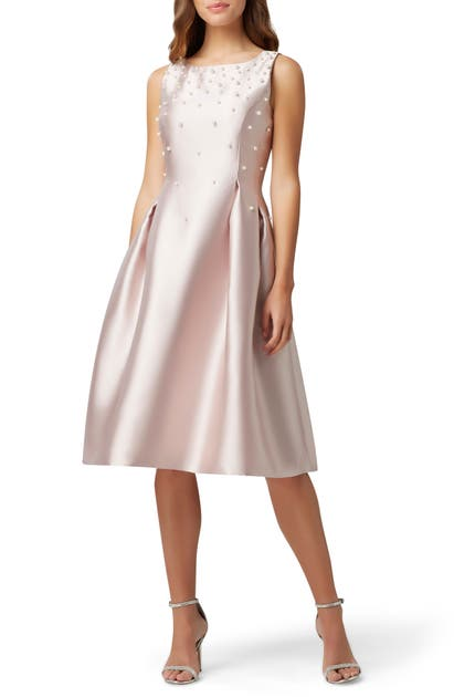 Tahari Dresses EMBELLISHED MIKADO COCKTAIL DRESS