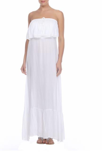 Image of BOHO ME Strapless Lace Overlay Maxi Dress