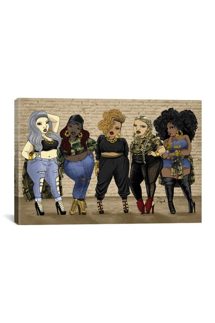 Image of iCanvas Who Run The World......Girls by Jonquel Art