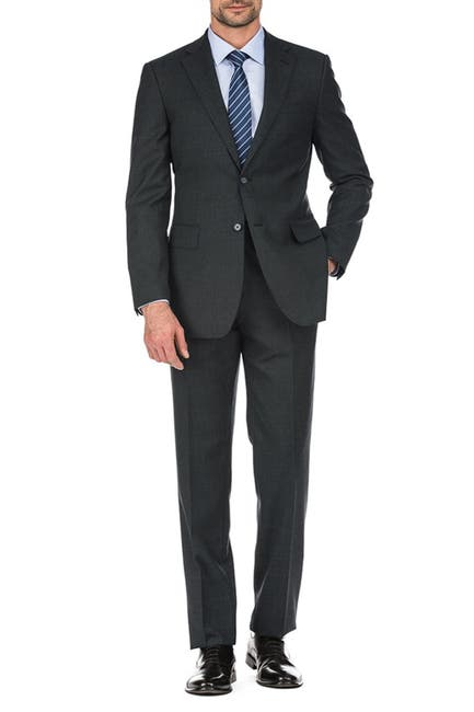 Image of English Laundry Grey Check Two Button Notch Lapel Suit