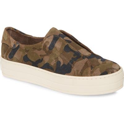 Jslides Heidi Platform Slip-On Sneaker, Green