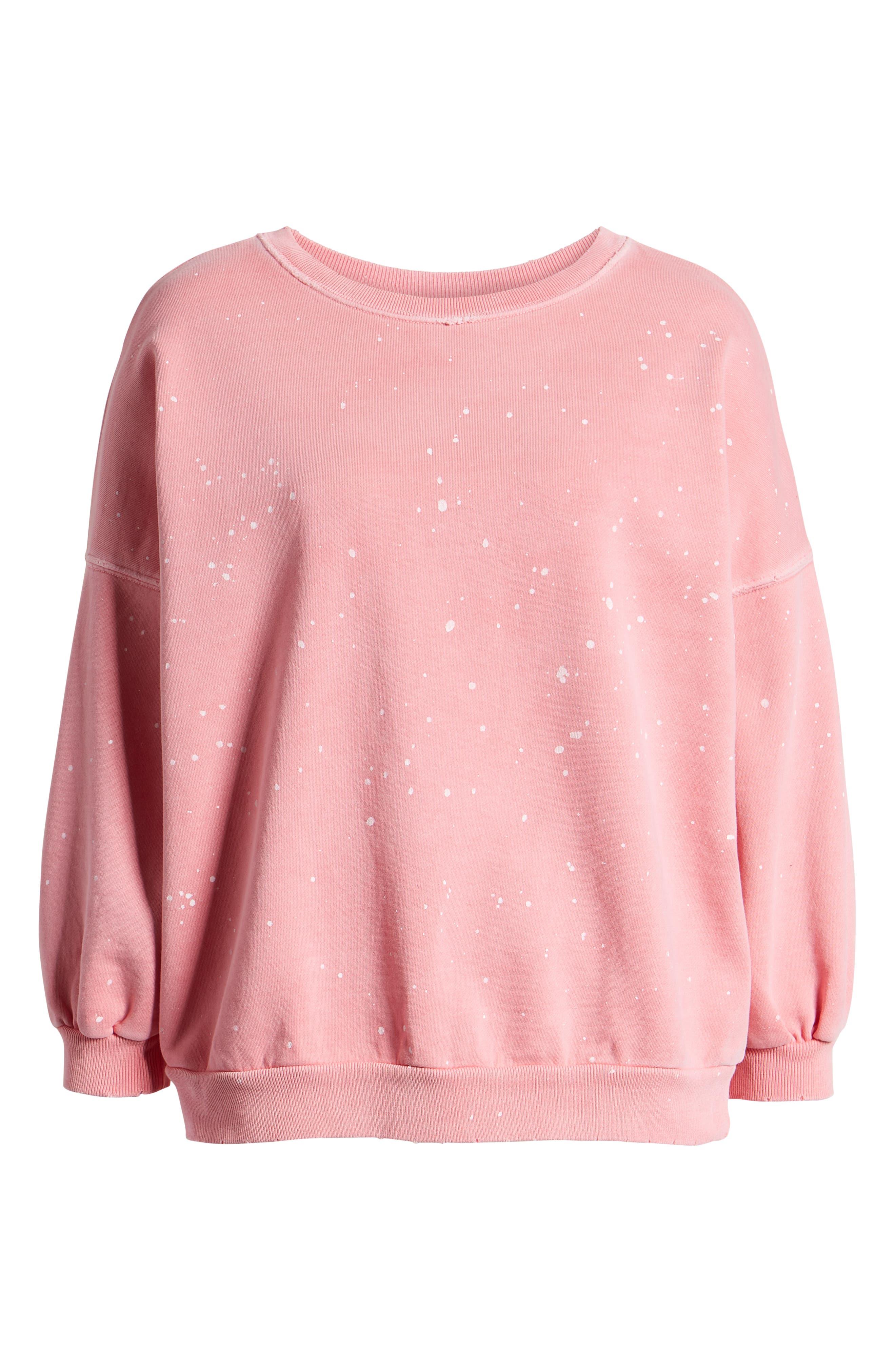 ,                             Storn Splatter Sweatshirt,                             Alternate thumbnail 6, color,                             PINK