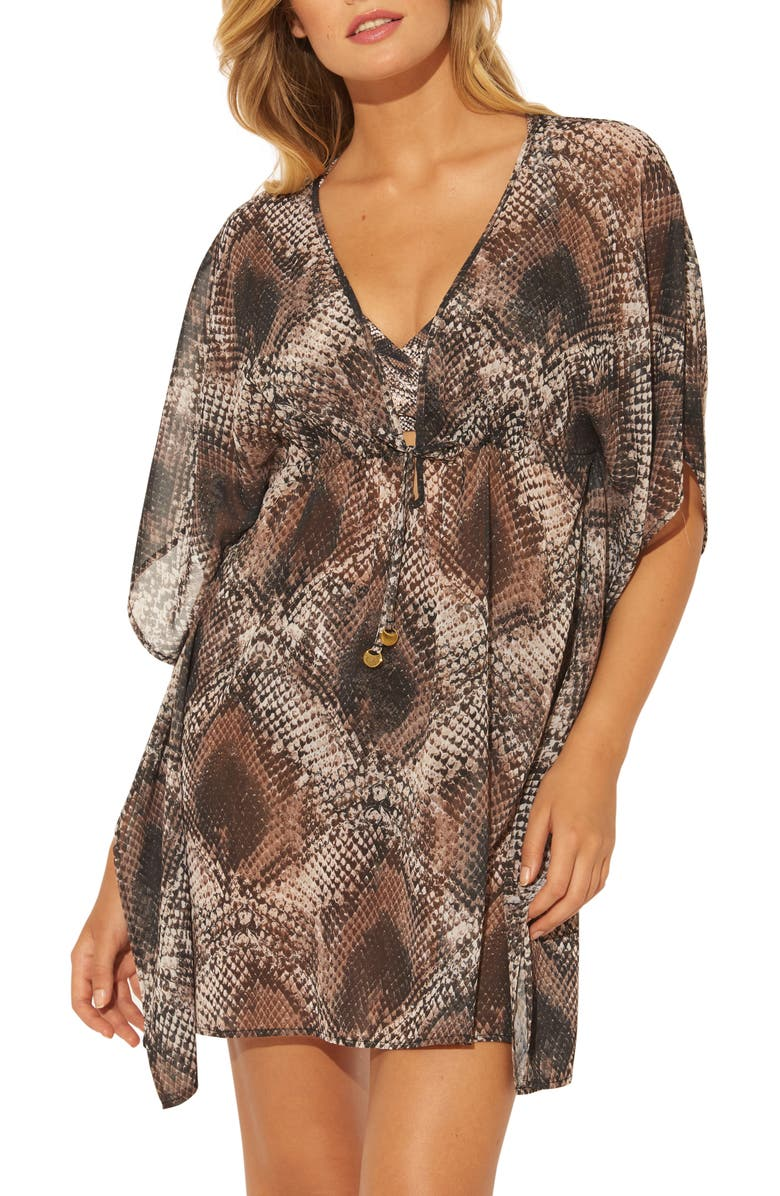 BLEU BY ROD BEATTIE Skin Games Caftan, Main, color, SNAKE
