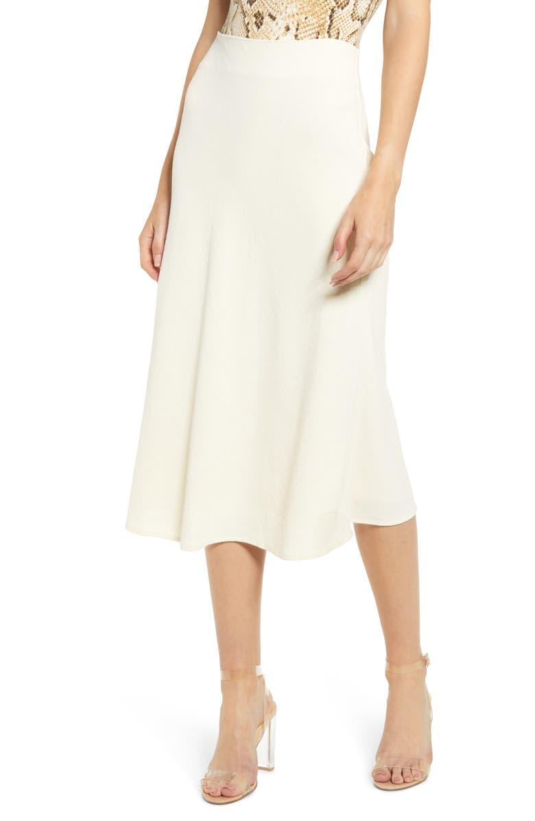 4SI3NNA Midi Skirt, Main, color, IVORY