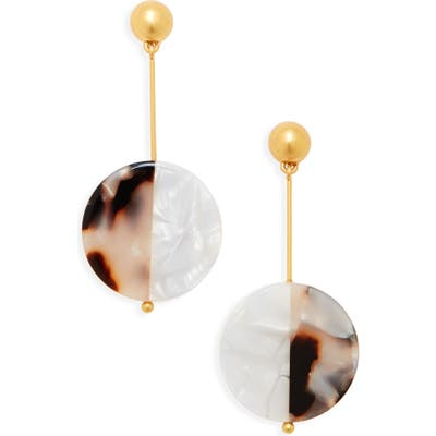 Madewell Acetate Disc Statement Earrings