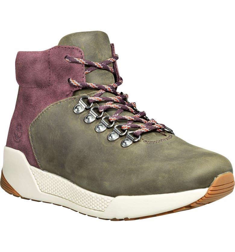 TIMBERLAND Kiri-Up Waterproof Hiking Boot, Main, color, MEDIUM GREY LEATHER