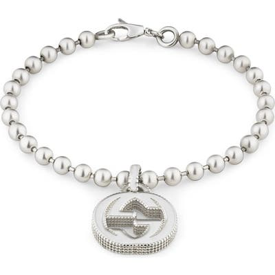 Gucci Silver Interlocking-G Line Bracelet