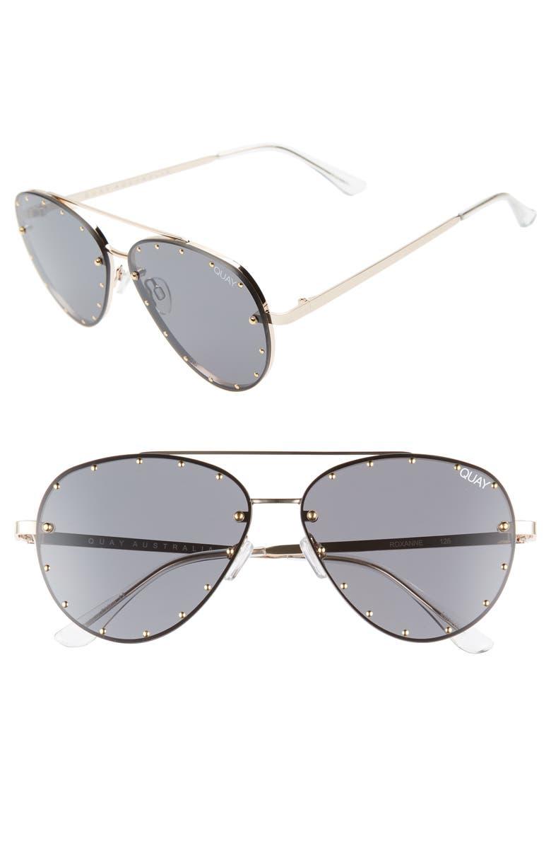 faf285d2e609 Quay Australia x Jaclyn Hill Roxanne 62mm Stud Aviator Sunglasses ...