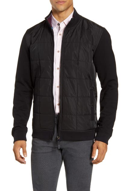 Ted Baker Jackets PASSPORT QUILTED FRONT FLEECE JACKET