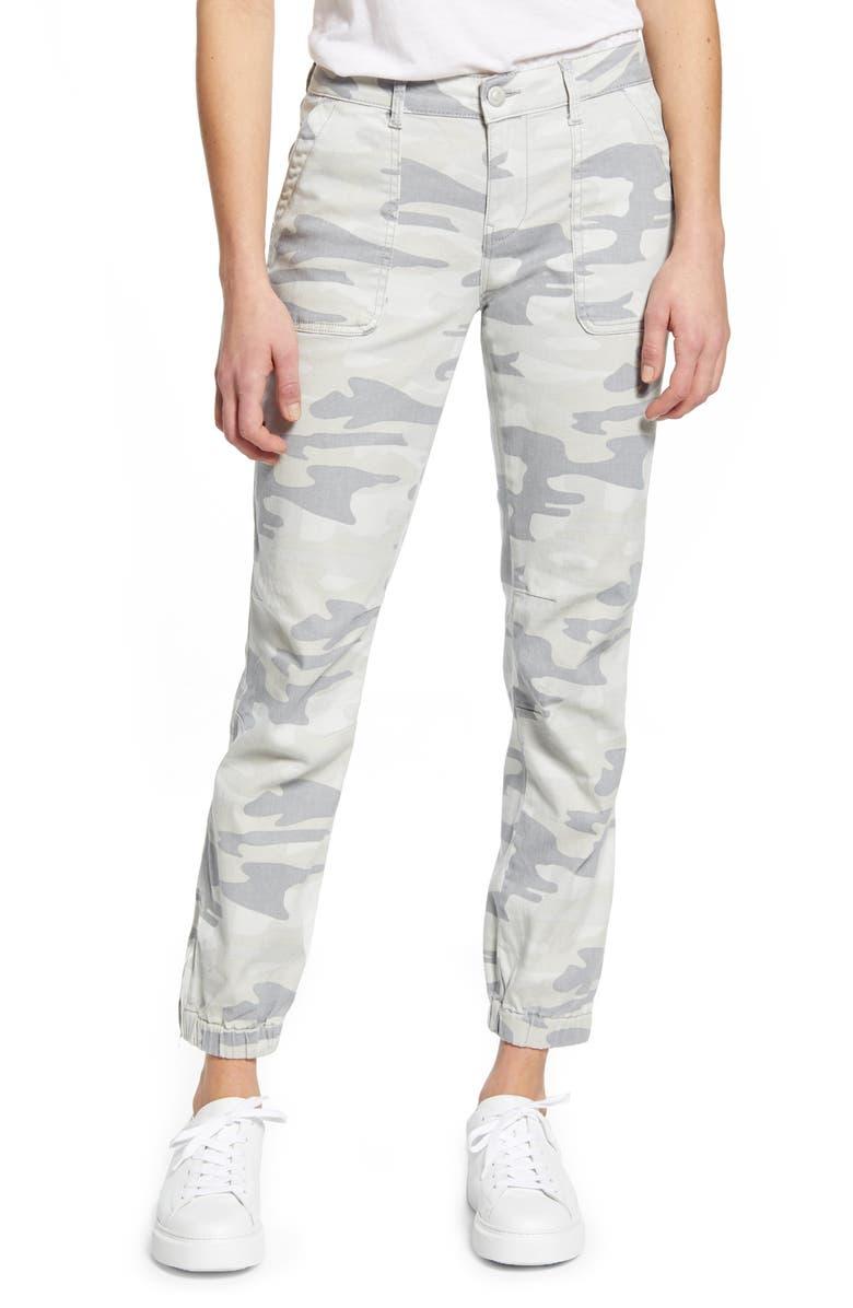 MAVI JEANS Ivy Grey Camo Stretch Cotton Utility Pants, Main, color, 020