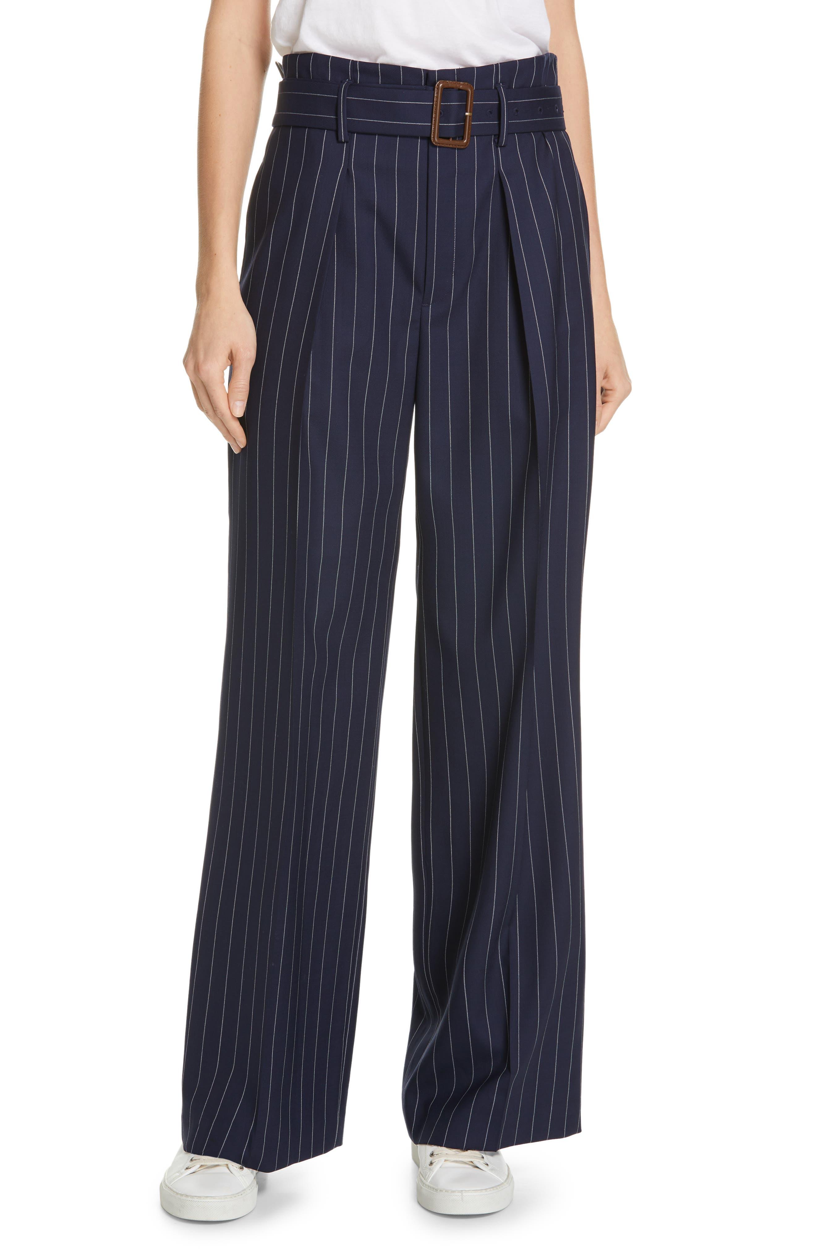 Women's Polo Ralph Lauren Pinstripe Wool Leg Pants