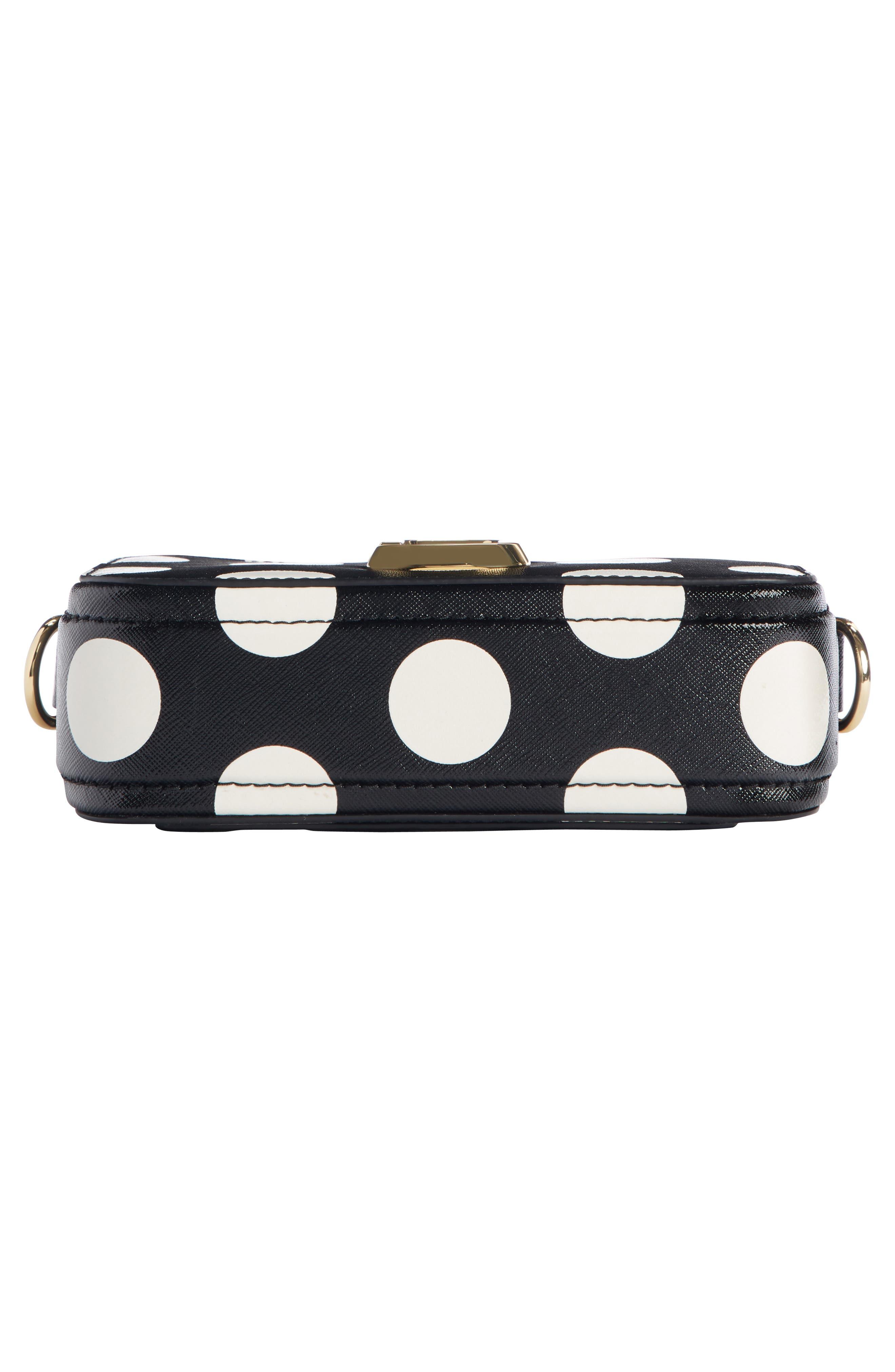 ,                             Dot Snapshot Leather Crossbody Bag,                             Alternate thumbnail 6, color,                             BLACK MULTI