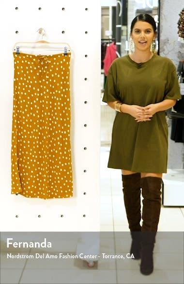 Drawstring Midi Slip Skirt, sales video thumbnail