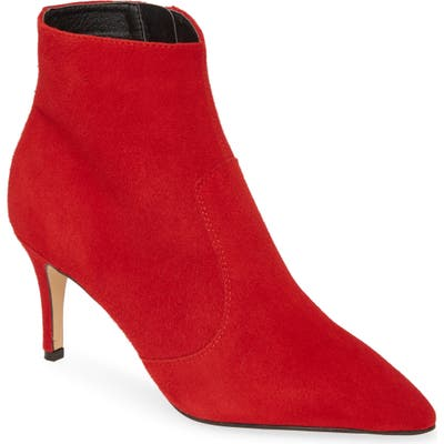Halogen Ashlee Pointed Toe Bootie- Red
