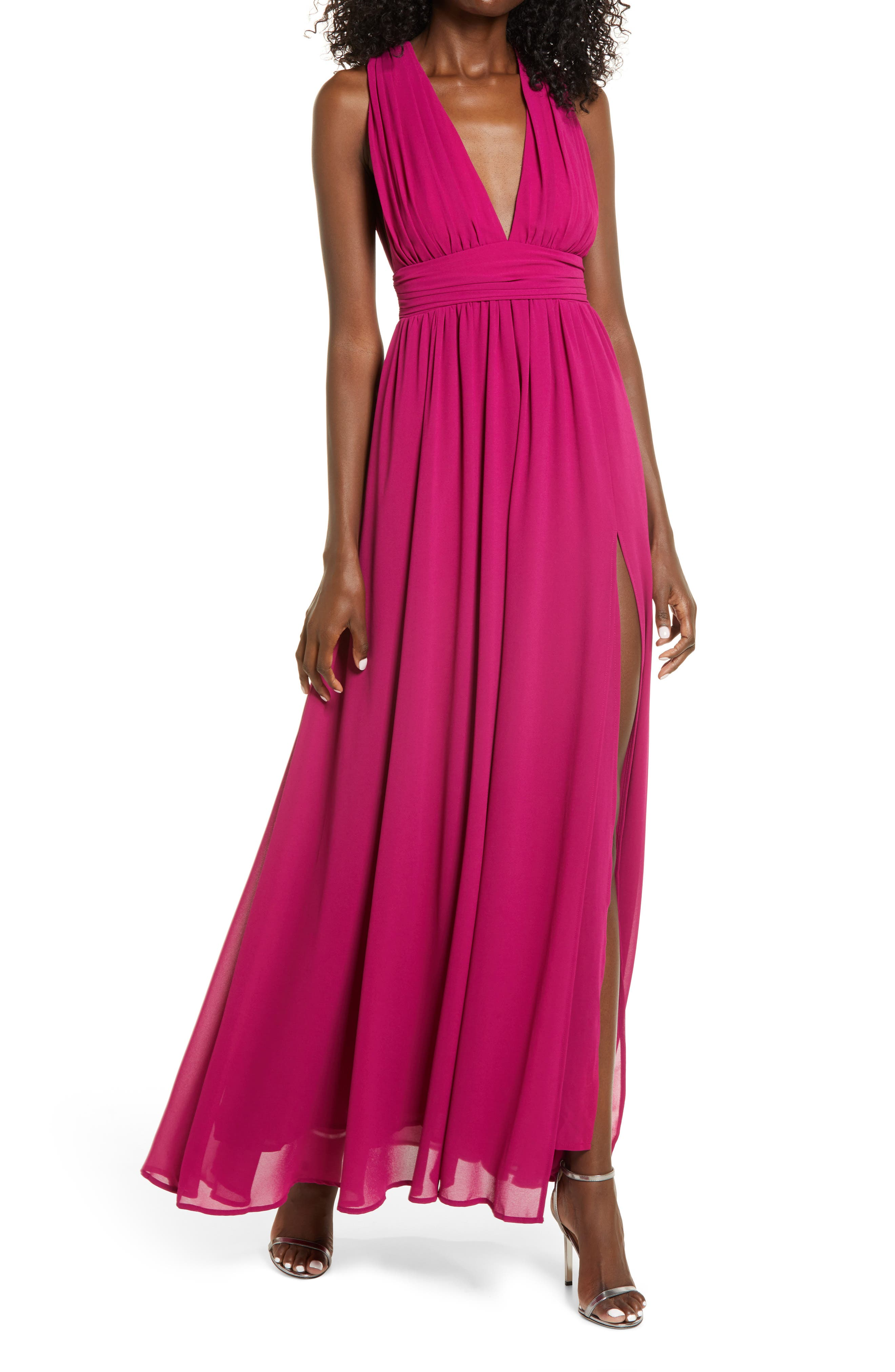 Lulus Heavenly Hues A-Line Gown   Nordstrom