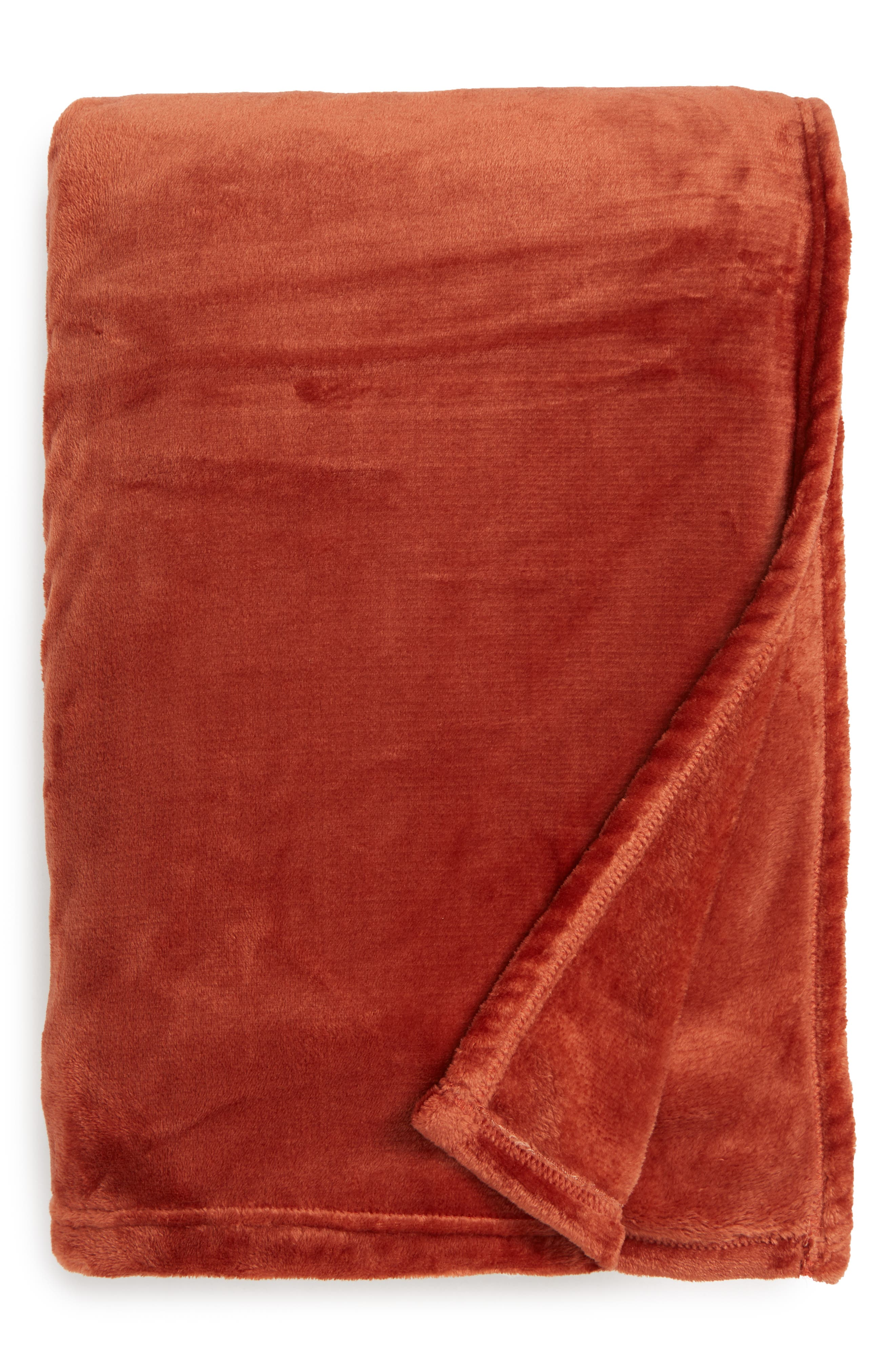 ,                             Kennebunk Home Bliss Oversized Throw Blanket,                             Main thumbnail 1, color,                             RUST