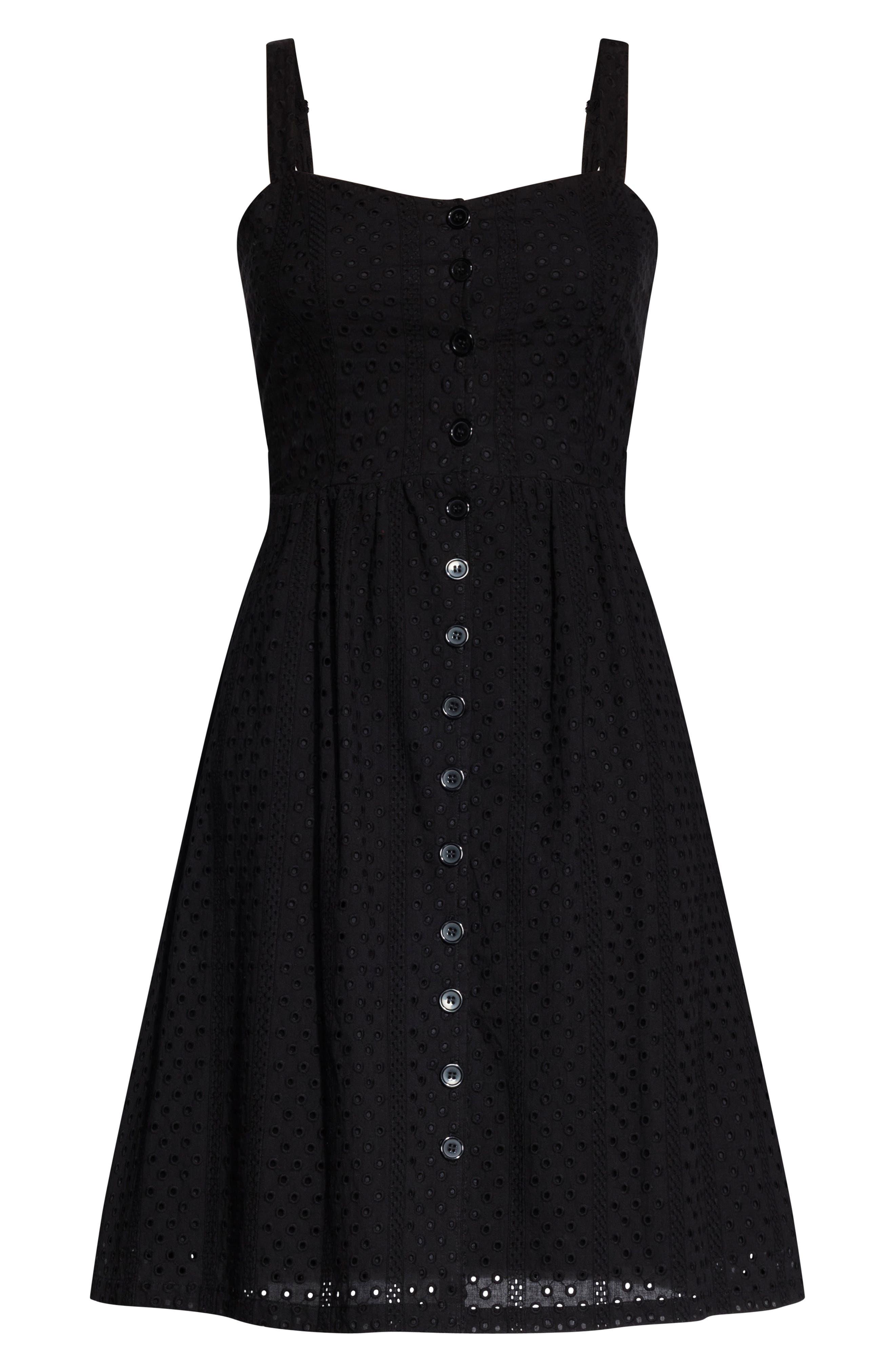 ,                             Eyelet Love Dress,                             Alternate thumbnail 3, color,                             BLACK