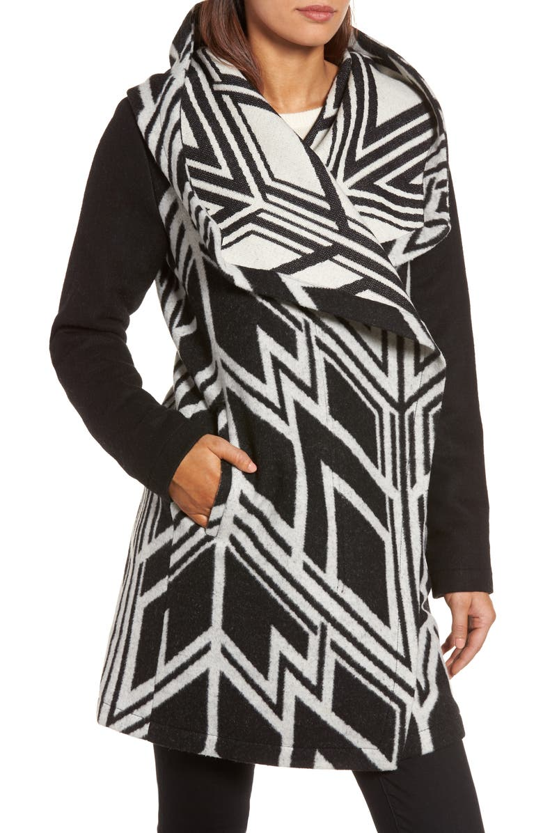 Vince Camuto Double Face Hooded Drape Coat Nordstrom