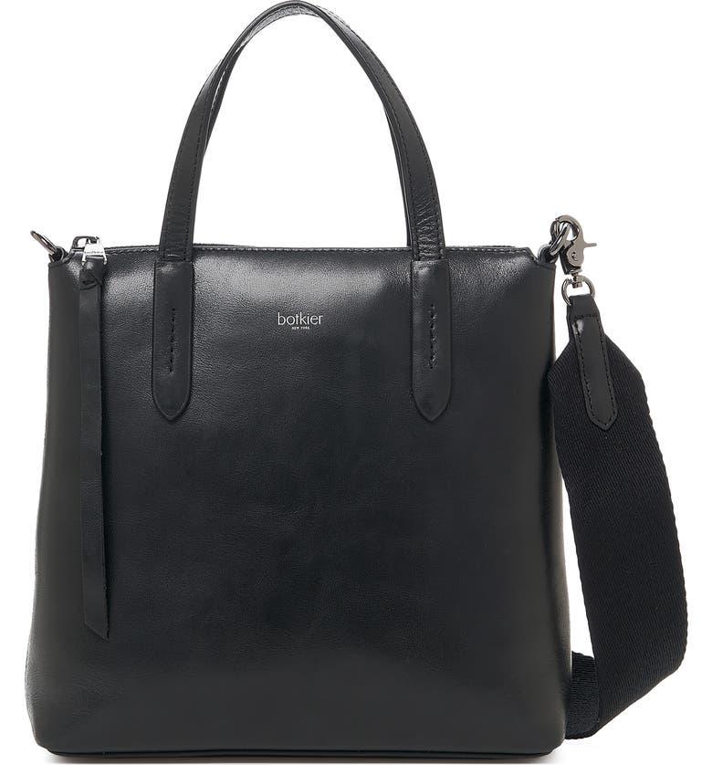 BOTKIER Highline Leather Satchel, Main, color, BLACK