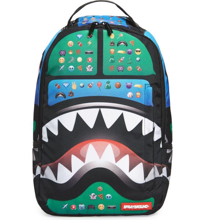 SPRAYGROUND Emoji Shark Backpack, Main, color, 300