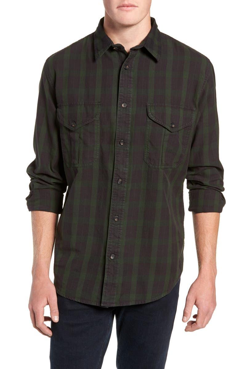 FILSON Alaskan Guide Regular Fit Twill Shirt, Main, color, 005