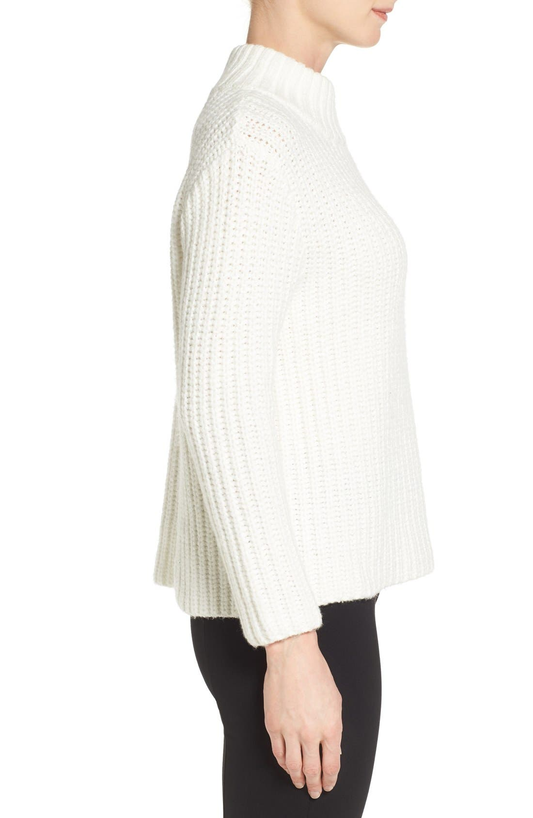,                             Mock Neck Sweater,                             Alternate thumbnail 3, color,                             900
