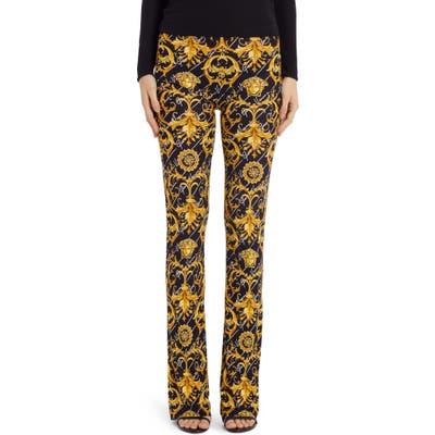 Versace Barocco Signture Print Flare Pants, US / 46 IT - Black