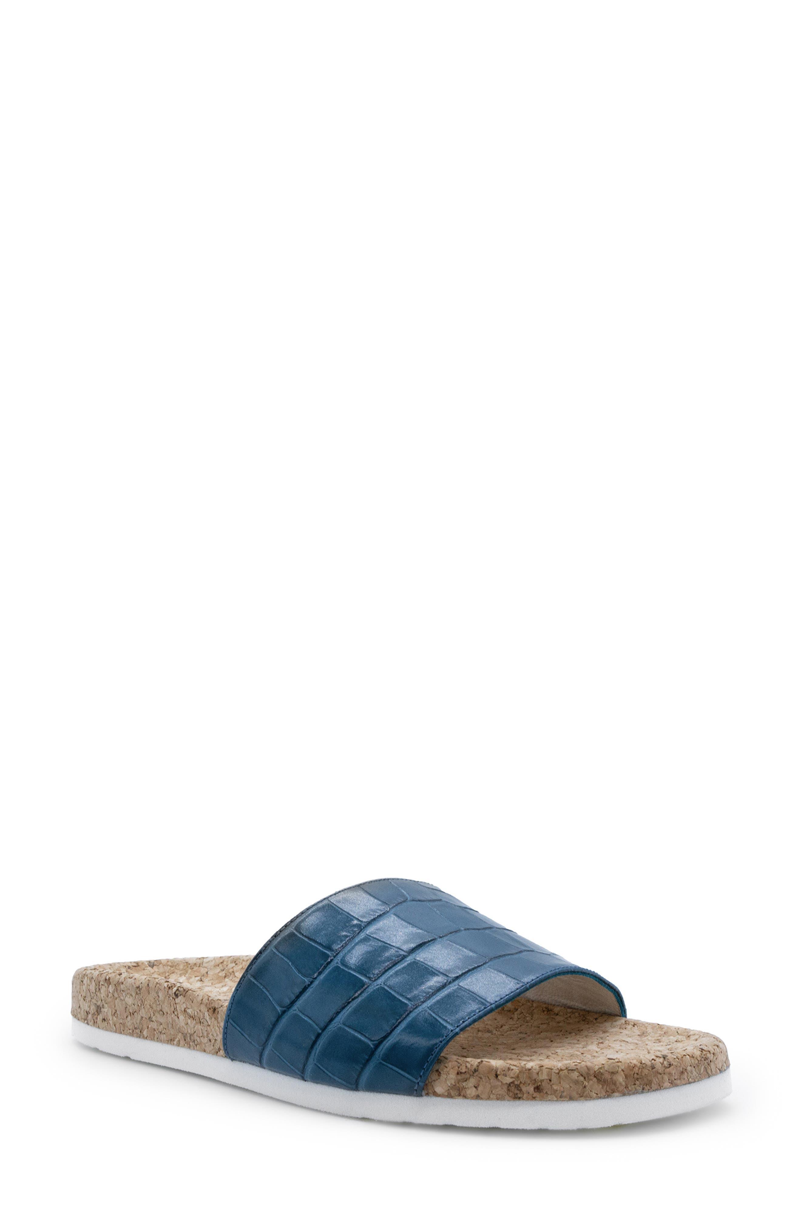 Molly Croc Embossed Waterproof Slide Sandal