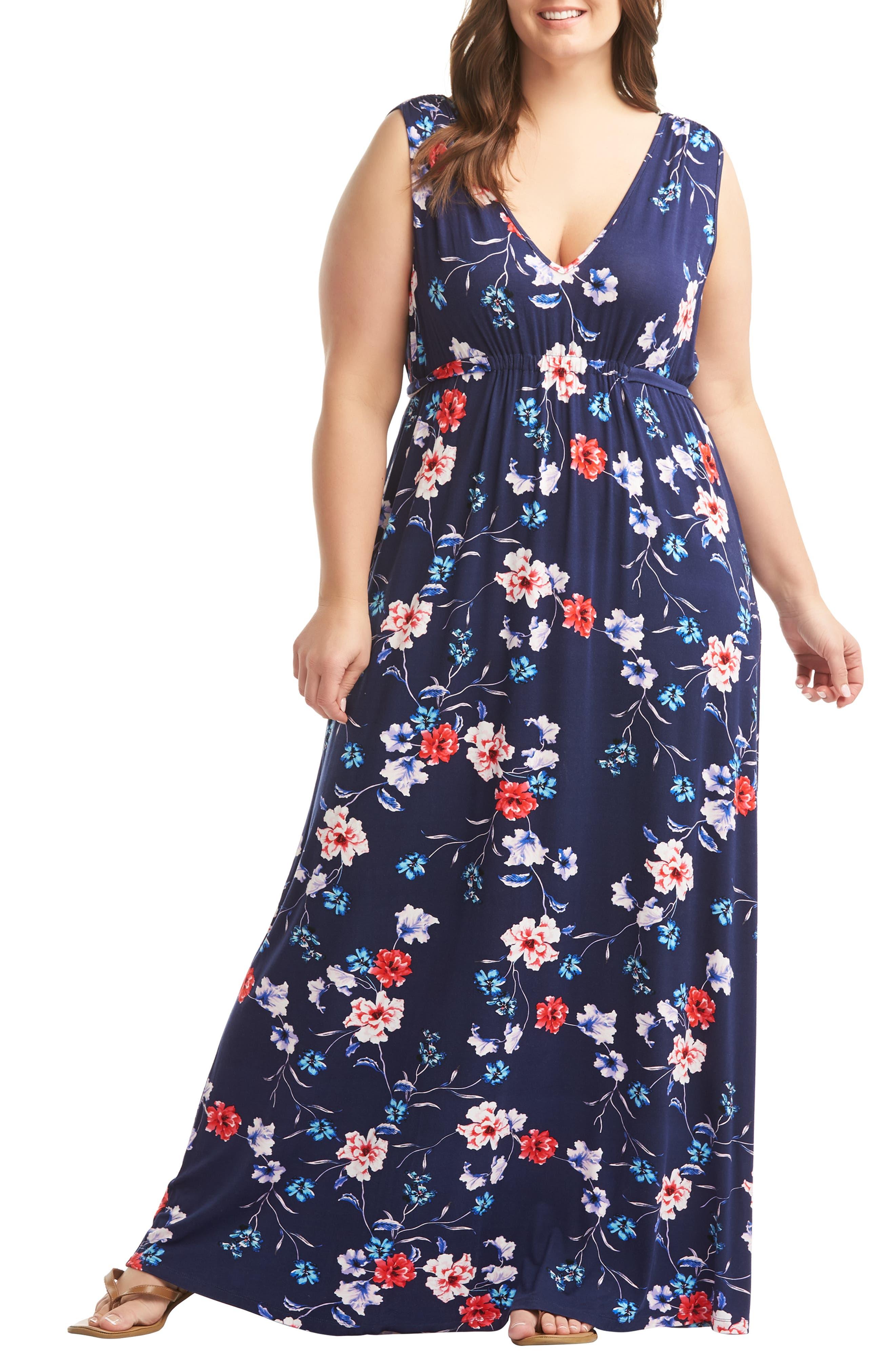 Grecia Maxi Dress, Main, color, WATERCOLOR FLORAL