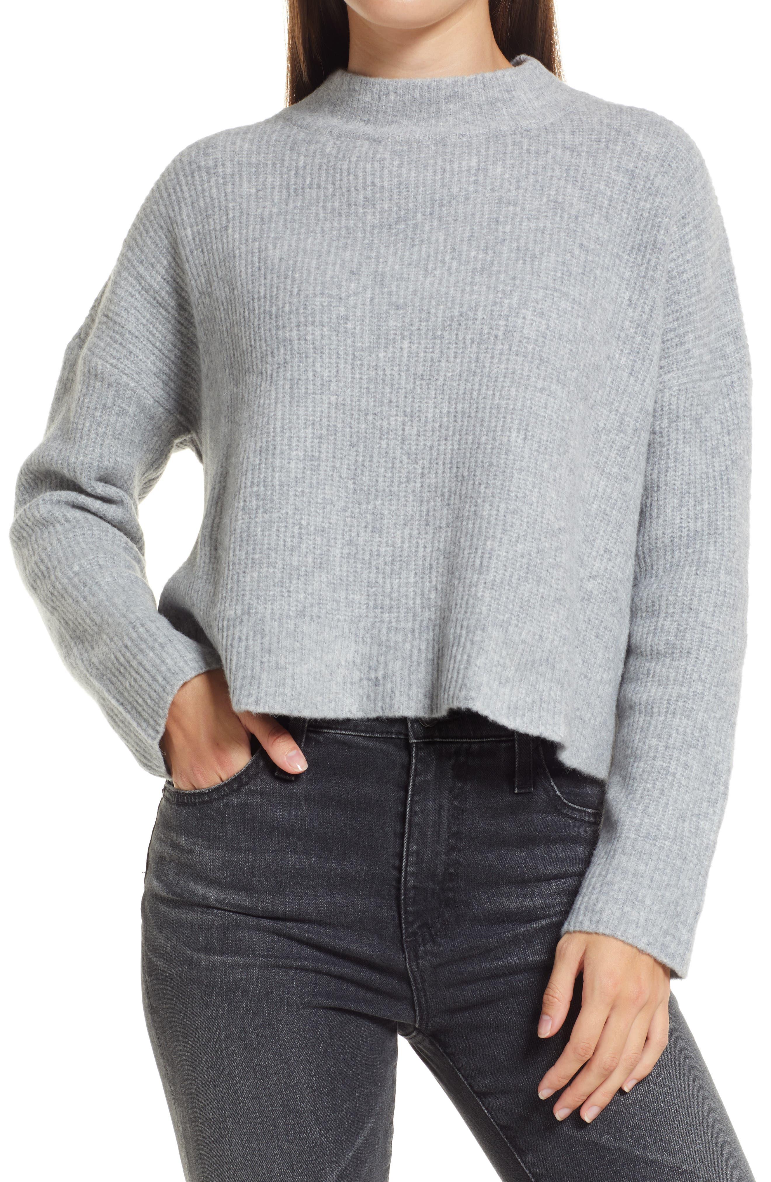 Pretty Cute Backless Mock Neck Sweater