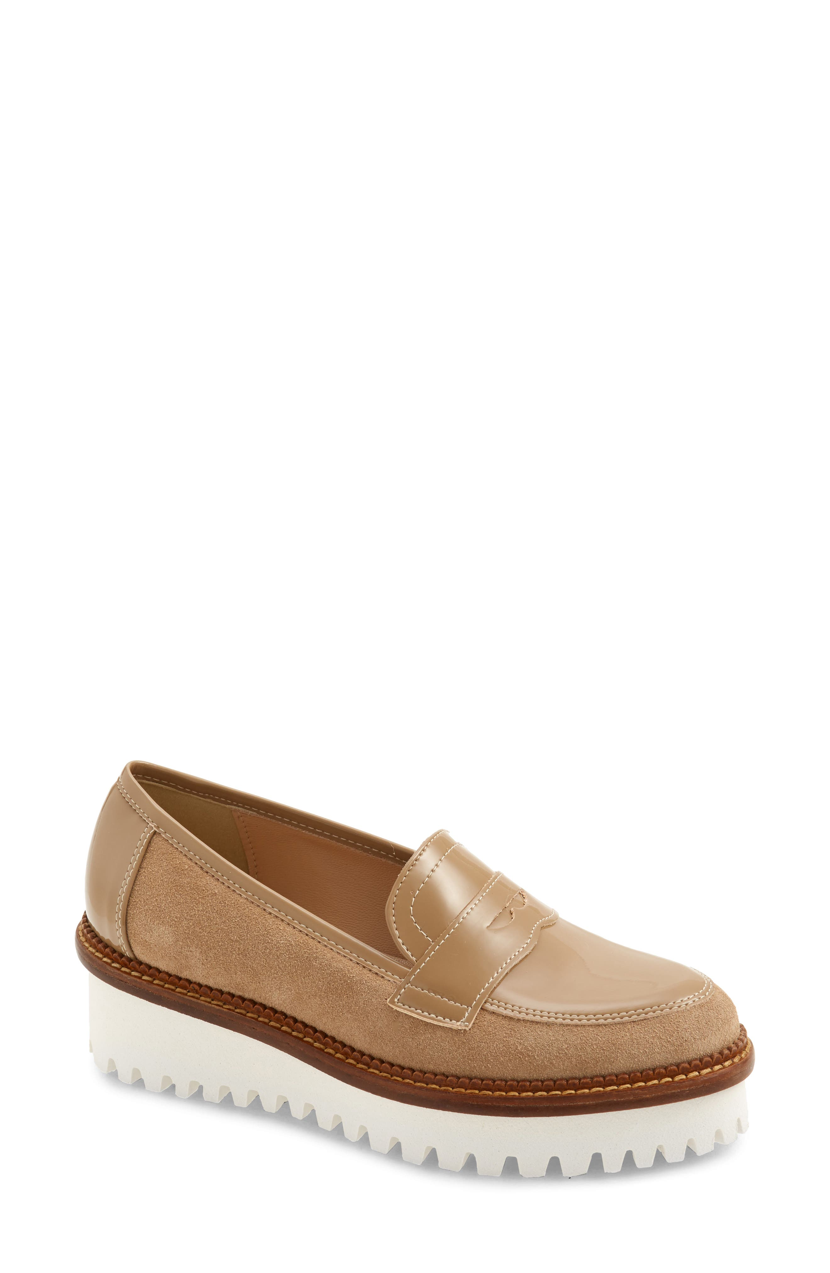 A lugged wedge brings just-right lift and ideal traction to a sophisticated menswear-inspired loafer. Style Name: Cordani Audrey Platform Loafer (Women). Style Number: 6052820 1. Available in stores.