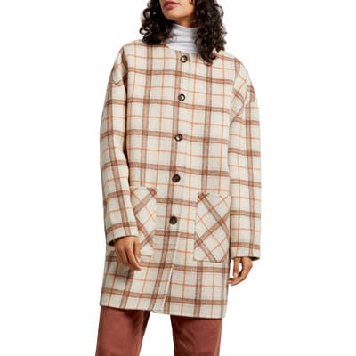 Michael Stars Pamela Portola Double Face Wool Blend Coat, Beige