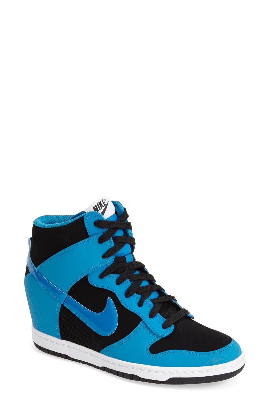 ,                             'Dunk Sky Hi - Essential' Wedge Sneaker,                             Main thumbnail 15, color,                             009