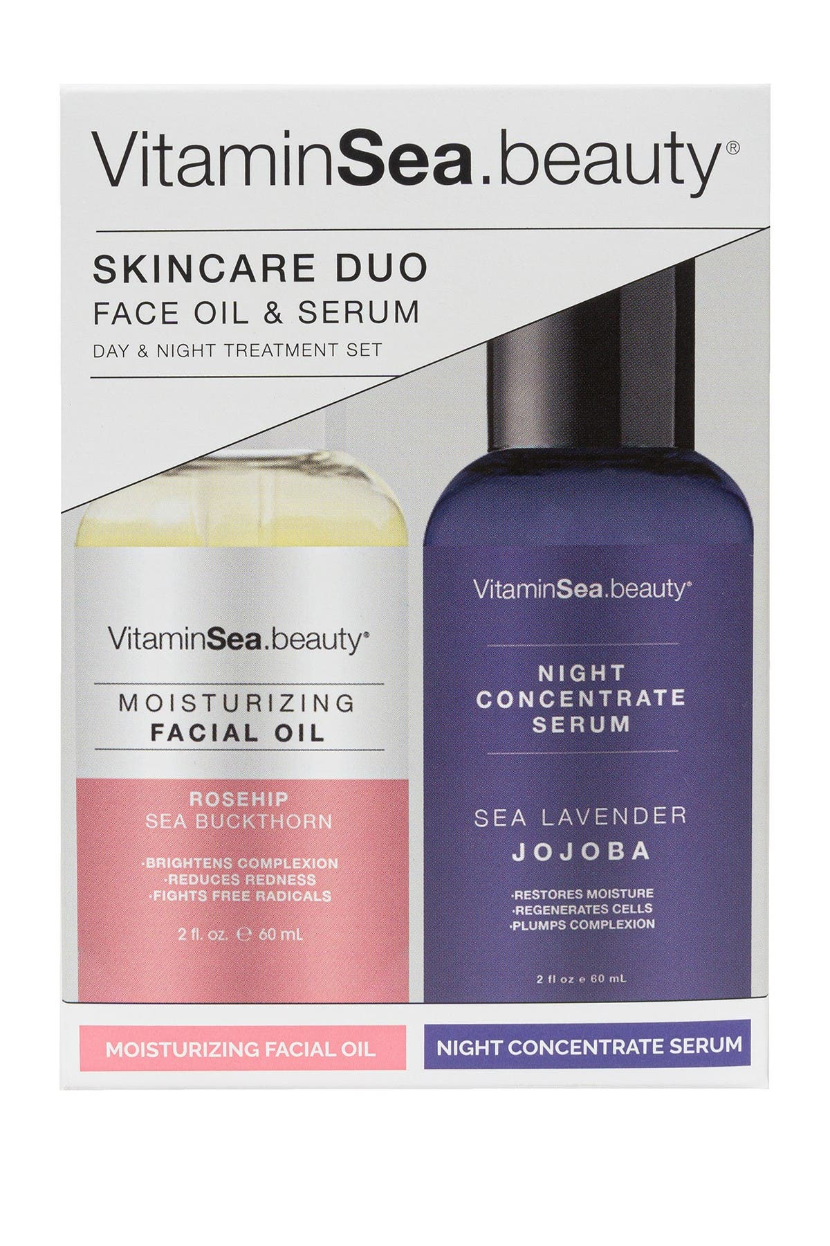 Image of VitaminSea.beauty Skincare Duo Moisturizing Face Oil & Night Concentrate Serum
