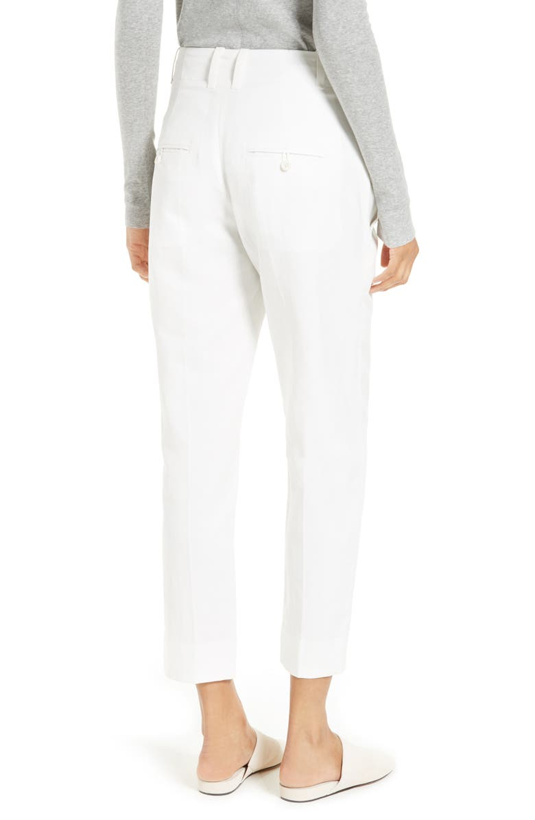 VINCE Carrot Tapered Leg Ankle Pants, Main, color, 100