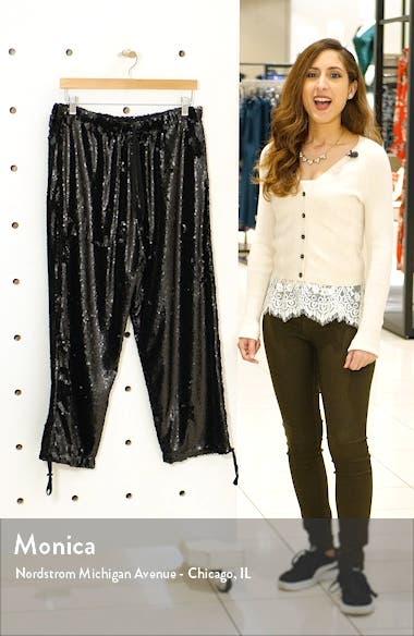 Sequin Tie Waist Jogger Pants, sales video thumbnail