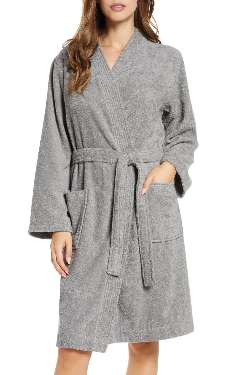 UGG<SUP>®</SUP> Lorie Terry Short Robe, Main, color, GREY