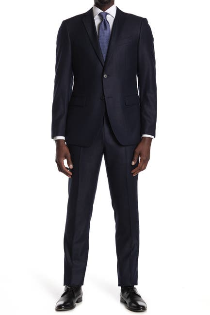 Image of John Varvatos Collection Navy Solid Two Button Notch Lapel Suit