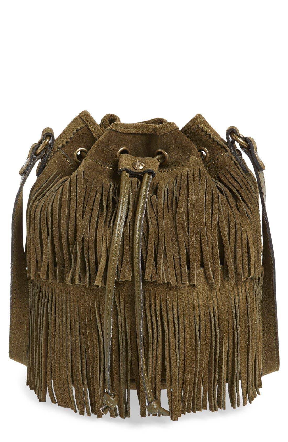 ,                             'Bronte' Fringe Bucket Bag,                             Main thumbnail 19, color,                             301
