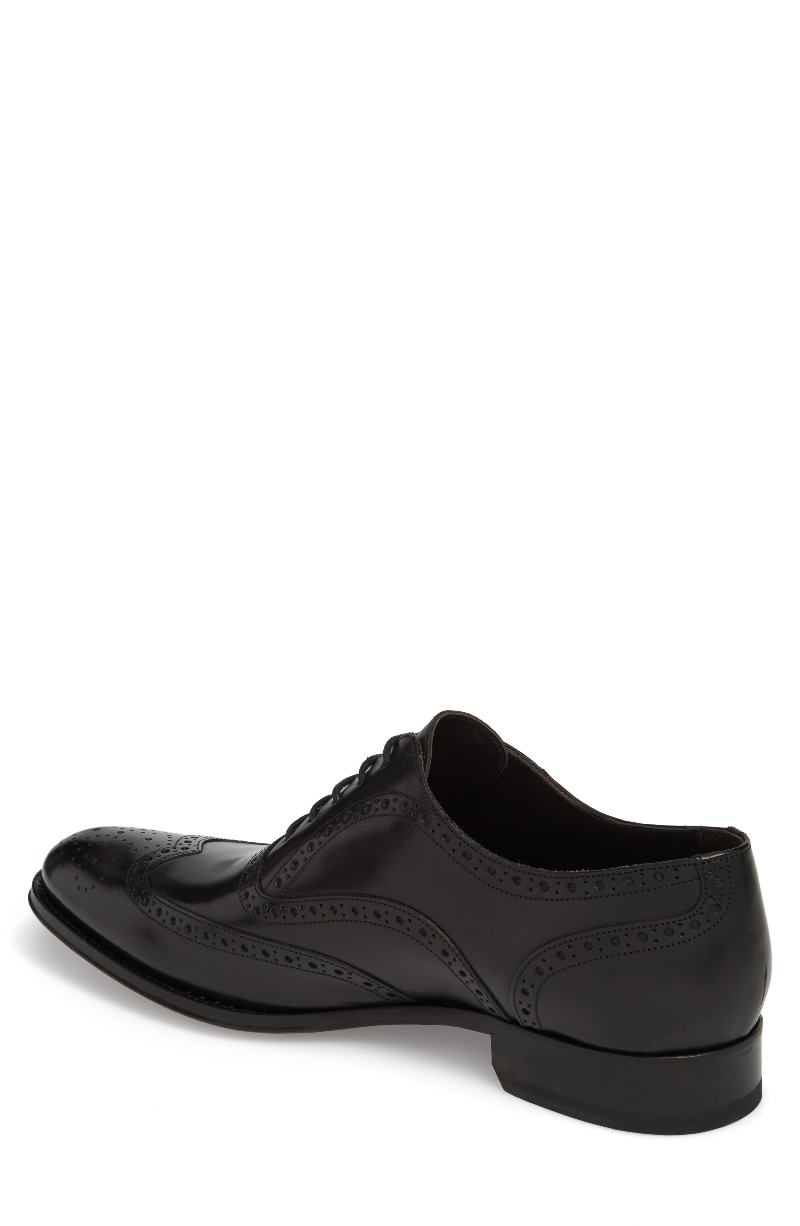 ,                             Milton Wingtip Oxford,                             Alternate thumbnail 2, color,                             BLACK LEATHER