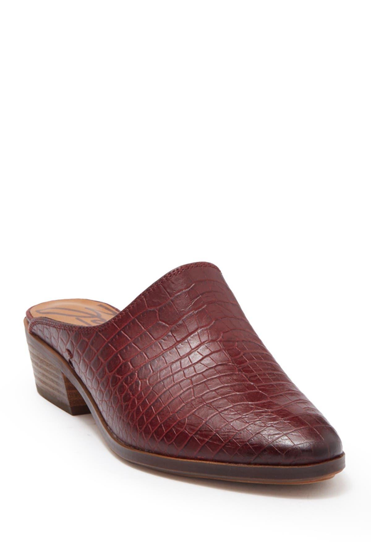 Image of Zodiac Quartz Croc Embossed Leather Mule