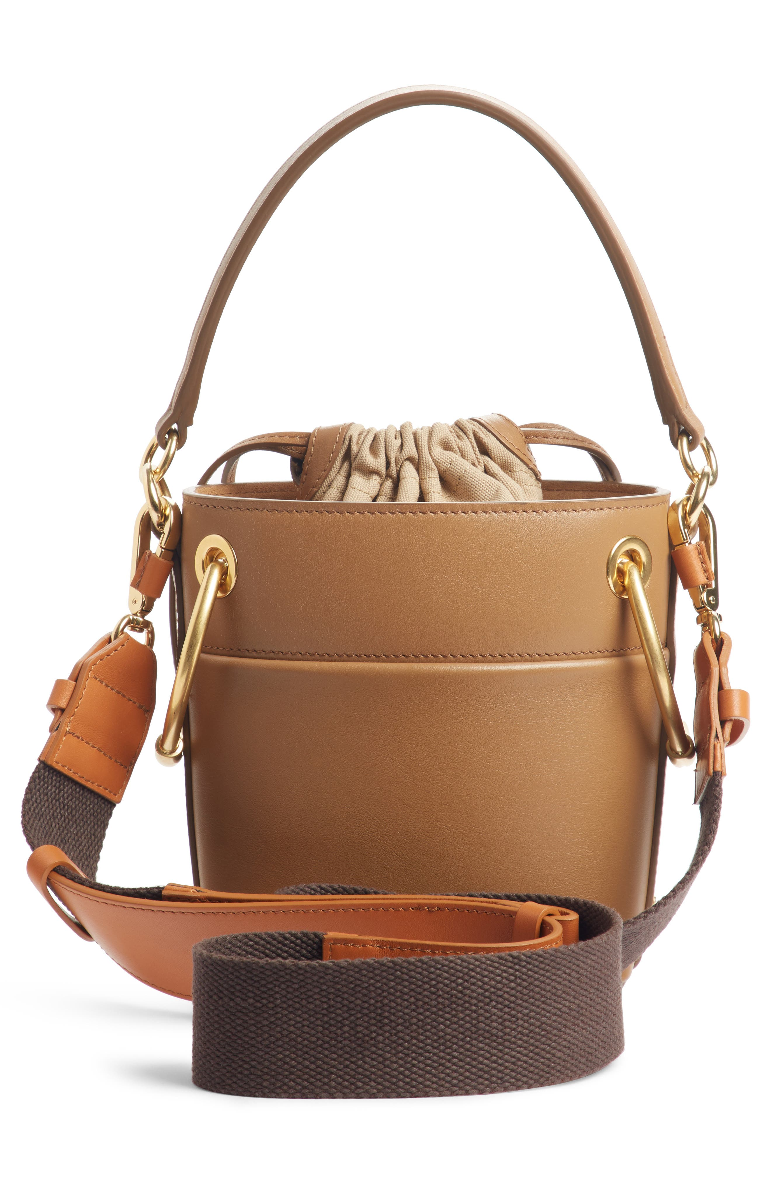 ,                             Roy Small Leather Bucket Bag,                             Alternate thumbnail 18, color,                             201