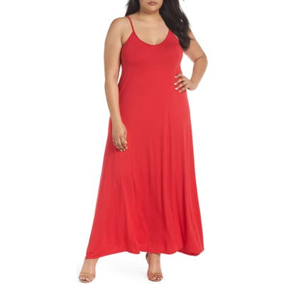 Plus Size Loveappella A-Line Maxi Dress