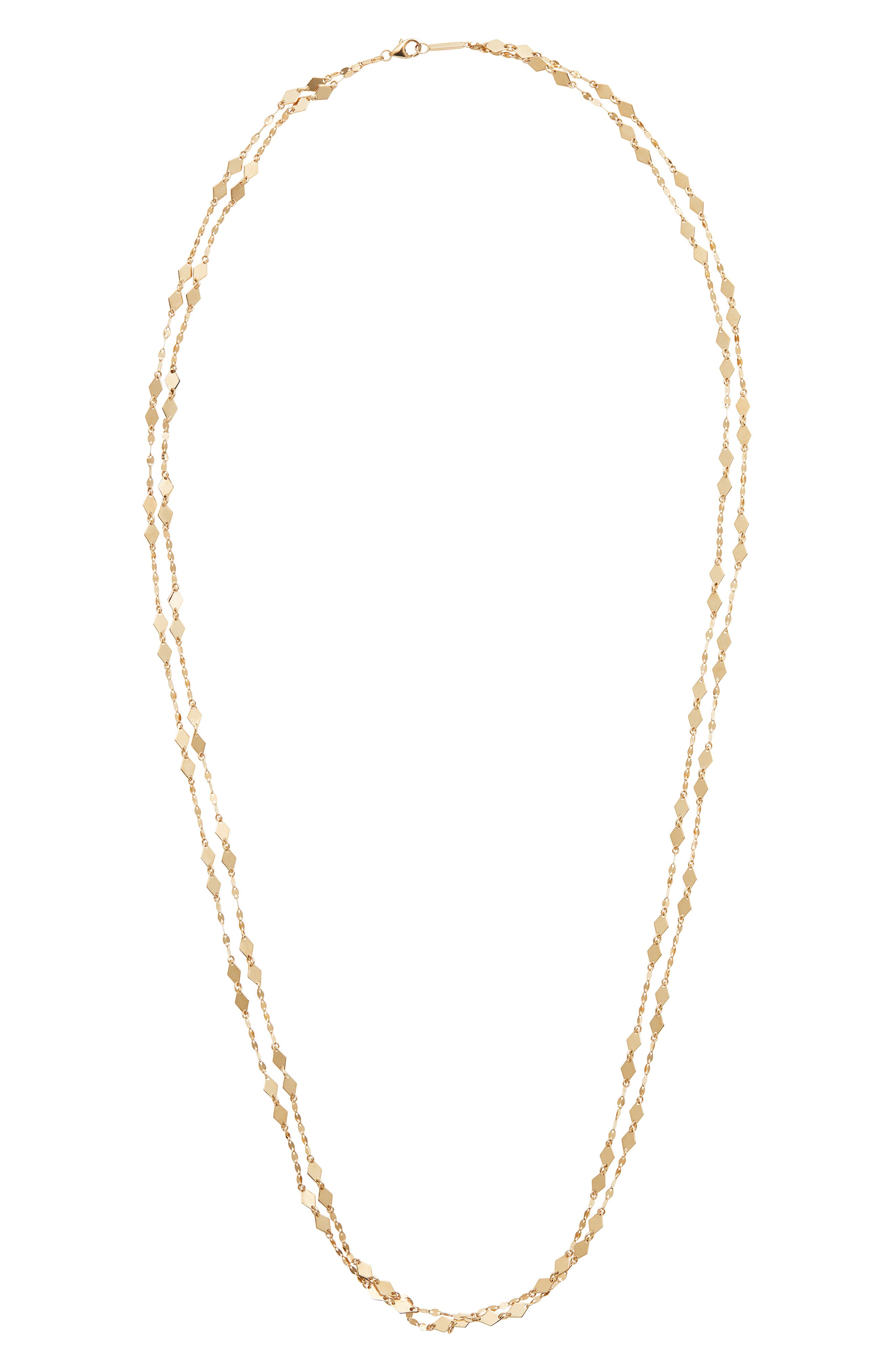 Image of Lana Jewelry 14K Yellow Gold Double Strand Kite Chain Necklace