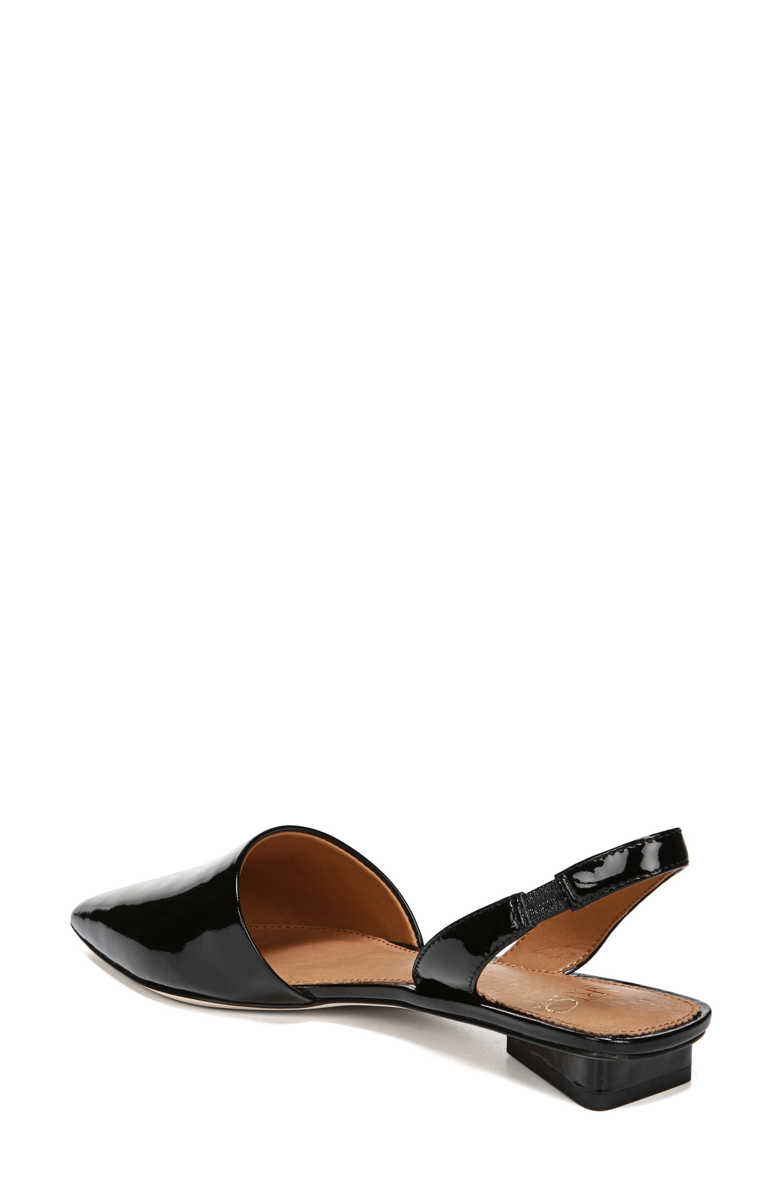 ,                             Graydon Pointy Toe Slingback Flat,                             Alternate thumbnail 2, color,                             BLACK PATENT LEATHER