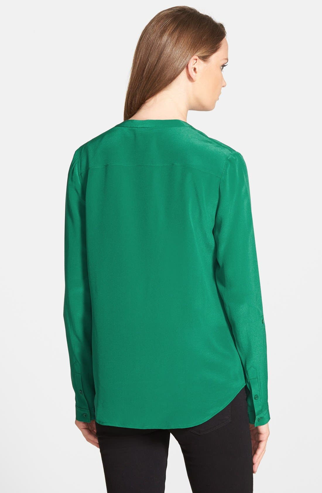 ,                             Collarless Silk Blouse,                             Alternate thumbnail 38, color,                             301